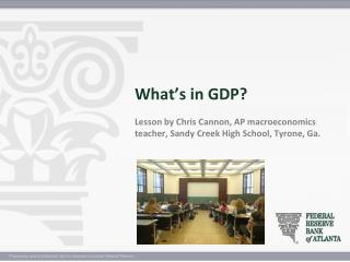 What is gross domestic product (GDP)?