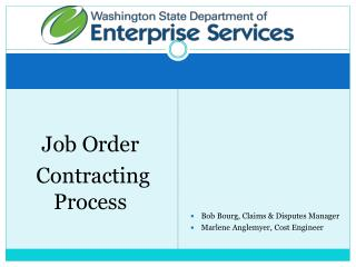 Job Order  Contracting Process