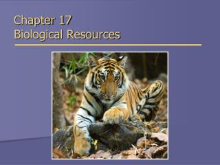 Chapter 17 Biological Resources
