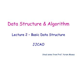 Data Structure & Algorithm
