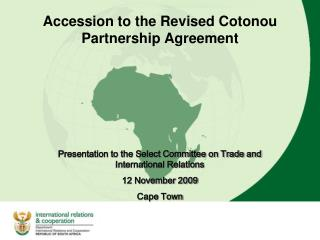 Accession to the Revised Cotonou Partnership Agreement