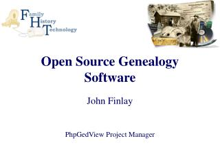 Open Source Genealogy Software