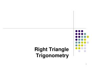 Right Triangle Trigonometry