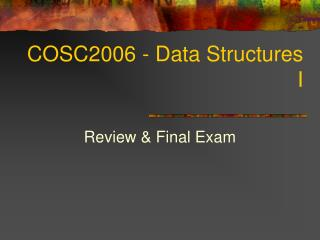 COSC2006 - Data Structures I