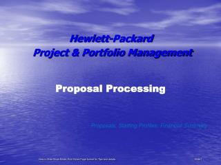 Proposal Processing