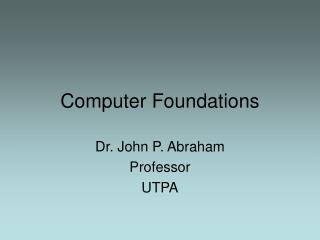 Computer Foundations