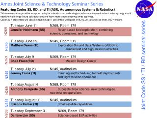 Ames Joint Science & Technology Seminar Series