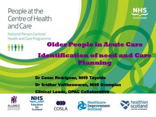 Older People in Acute Care Identification of need and Care Planning