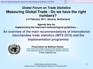 Global Forum on Trade Statistics
