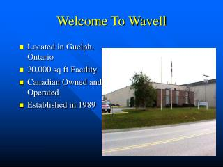 Welcome To Wavell