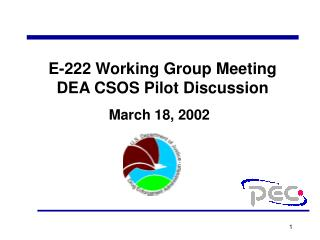 E-222 Working Group Meeting  DEA CSOS Pilot Discussion
