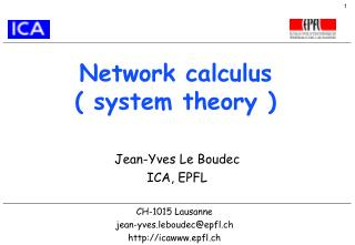 Network calculus ( system theory )