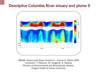 Descriptive Columbia River estuary and plume II