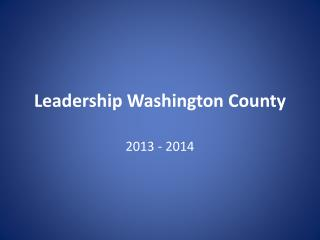 Leadership Washington County