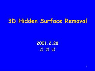 3D Hidden Surface Removal