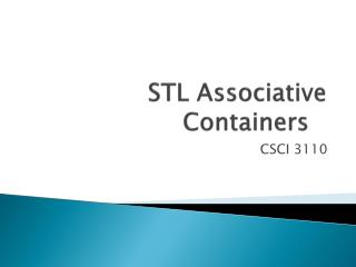 STL Associative Containers