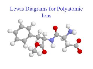 Lewis Diagrams for Polyatomic Ions