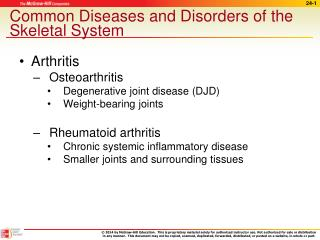 Common Diseases and Disorders of the Skeletal System