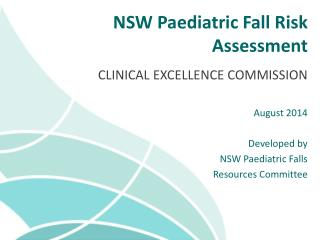 NSW Paediatric Fall Risk Assessment