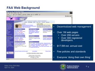 Web Metrics: State of the FAA Web