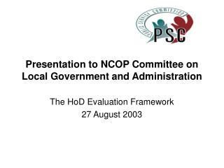 Presentation to NCOP Committee on Local Government and Administration