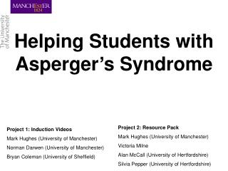 Helping Students with Asperger's Syndrome