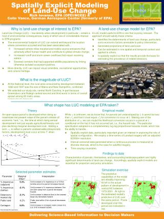 Why is land-use change of interest to EPA?