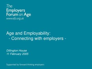 Age and Employability:   - Connecting with employers -