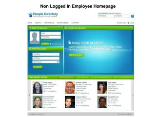 Non Logged In Employee Homepage