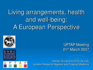 Living arrangements, health and well-being:  A European Perspective