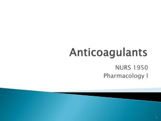 Anticoagulants
