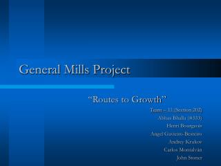 General Mills Project