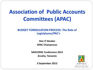 Association of  Public Accounts Committees (APAC)