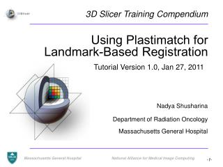 Using Plastimatch for Landmark-Based Registration