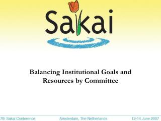 Balancing Institutional Goals and Resources by Committee