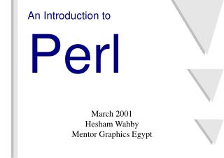 An Introduction to Perl