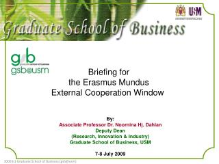 Briefing for the Erasmus Mundus External Cooperation Window