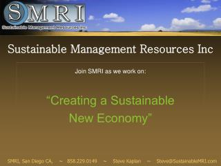 Sustainable Management Resources Inc