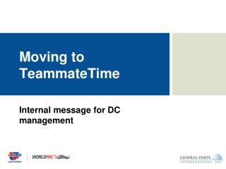 Moving to TeammateTime