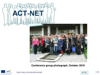 Conference group photograph, October 2010
