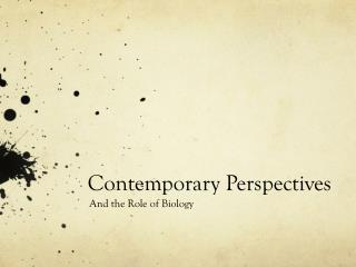 Contemporary Perspectives