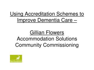 Dementia Accreditation