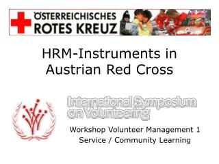HRM-Instruments in Austrian Red Cross