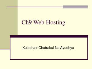 Ch9 Web Hosting