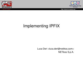 Implementing IPFIX