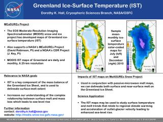 Greenland Ice-Surface Temperature (IST)