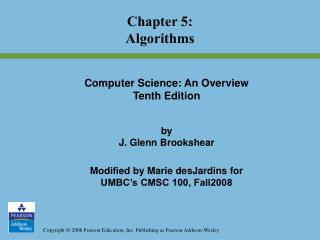 Chapter 5: Algorithms