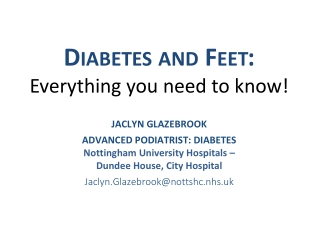 Diabetes and Feet