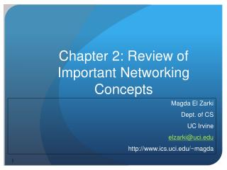 Chapter 2: Review of Important Networking Concepts