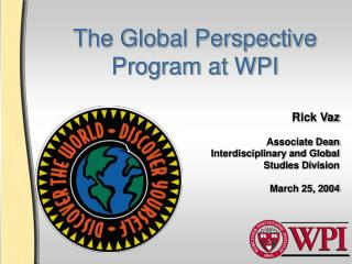 The Global Perspective Program at WPI